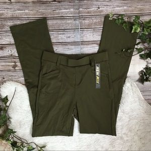 NEW MIX NWT Olive Green Flare Legging Career Pants